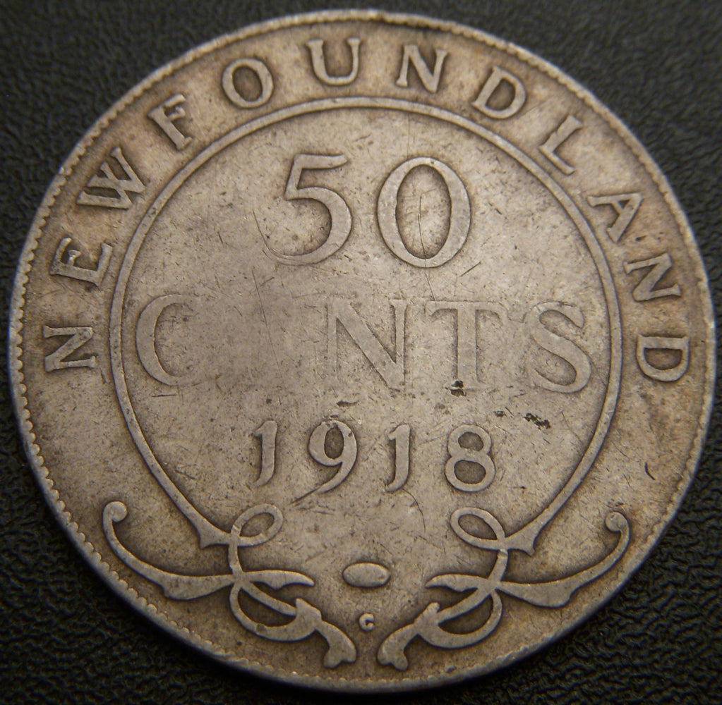 1918C New Foundland Fifty Cent - VG
