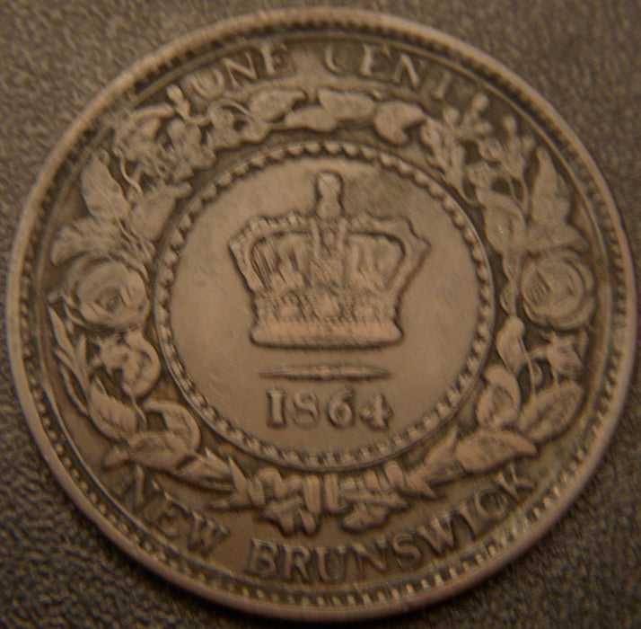 1864 One Cent - New Brunswick
