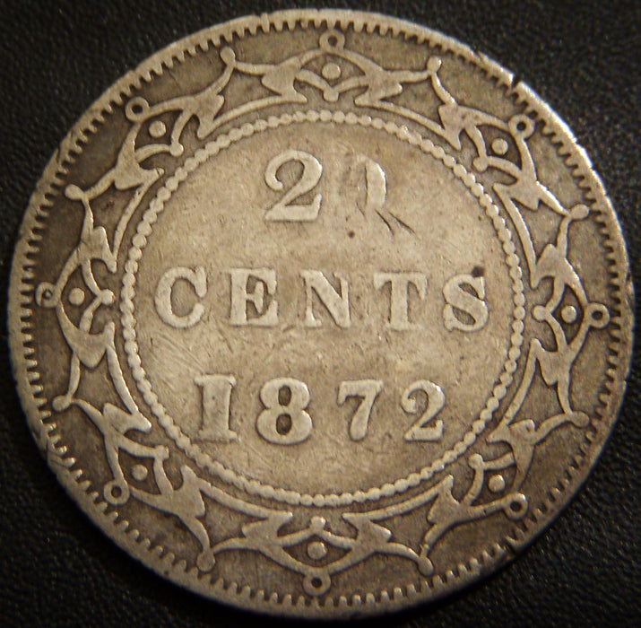 1872H 20 Cent - New Foundland