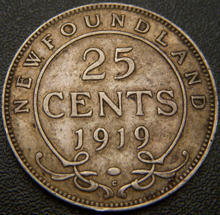 1919C New Foundland Twenty Five Cent - VF