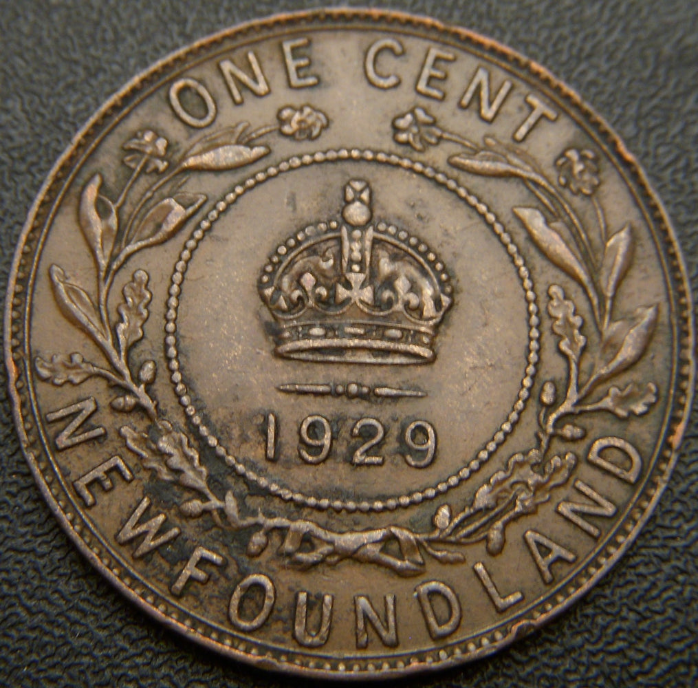 1929 Cent New Foundland - EF