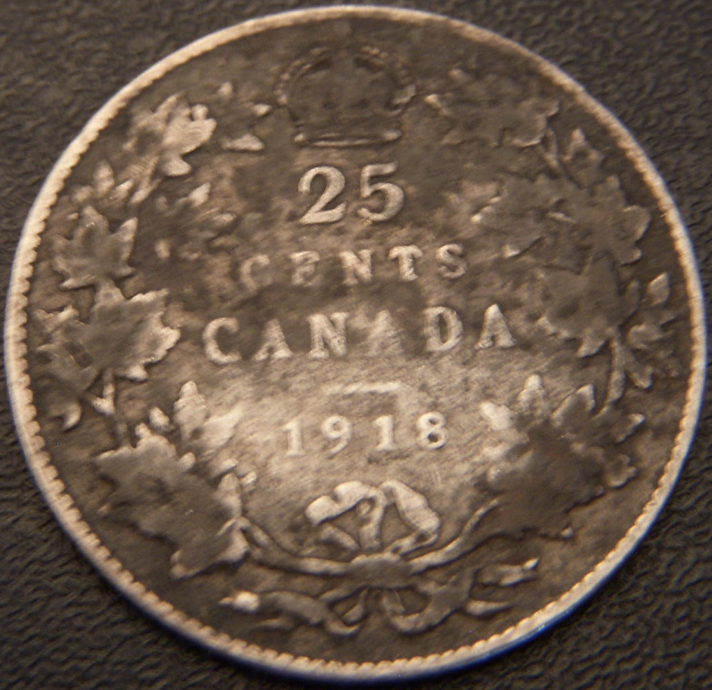 1918 Canadian Quarter - VG
