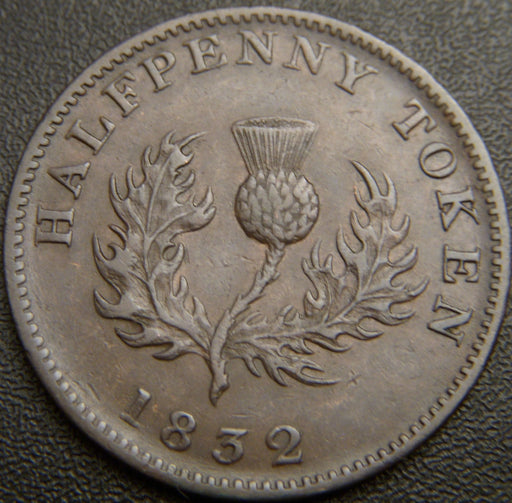 1832 Half Penny William IV - Nova Scotia Token