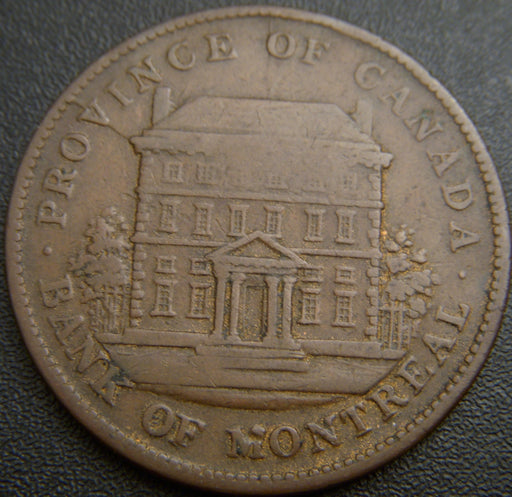 1842 One Penny Montreal Bank Token