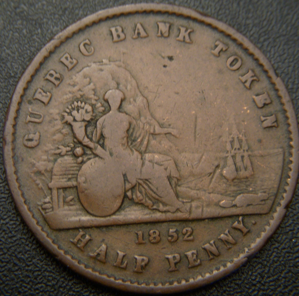 1852 Half Penny - Quebec Bank Token