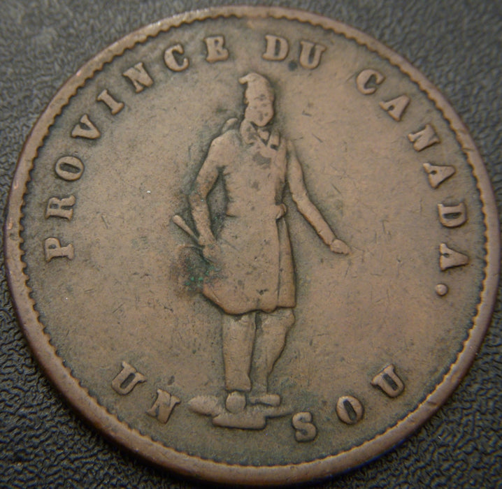 1852 1/2 P Quebec Bank Token
