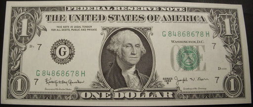 1963B (G) $1 Federal Reserve Note - Uncirculated