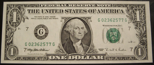 1995 (G) $1 Federal Reserve Note - Uncirculated
