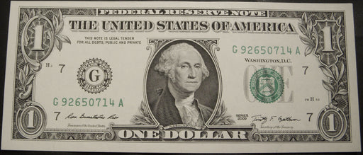2009 (G) $1 Federal Reserve Note - Uncirculated