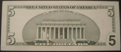 2003A $5 Federal Reserve Note - STAR Note Uncirculated