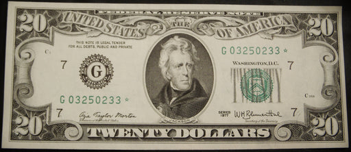 1977 (G) $20 Federal Reserve - Star Note Uncirculated