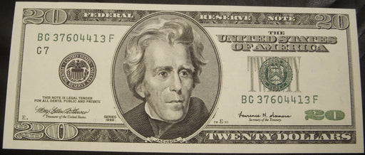 1999 (G) $20 Federal Reserve Note - Unc.