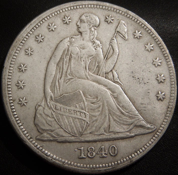 1840 Seated Dollar - Extra Fine