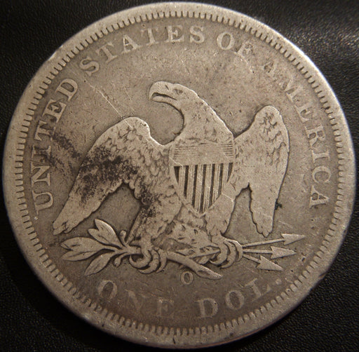1860-O Seated Dollar - Very Good