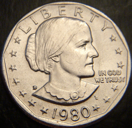 1980-D Susan B. Anthony Dollar - Uncirculated