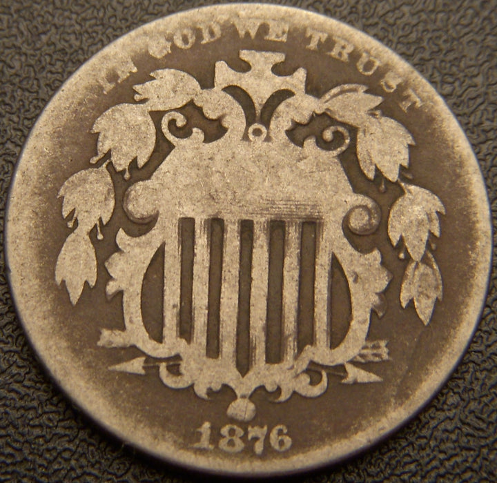 1876 Shield Nickel - Good