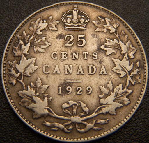 1929 Canadian Quarter - VF