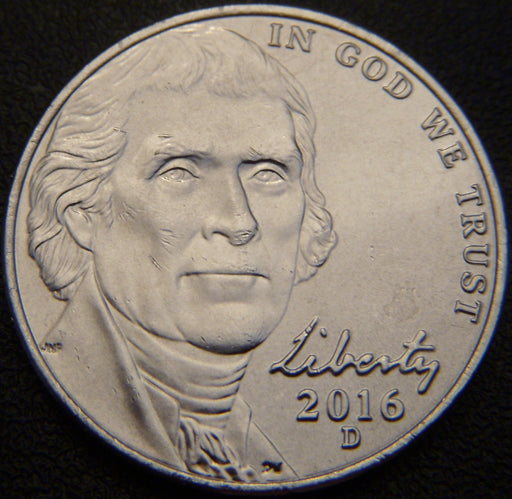 2016-D Jefferson Nickel - Unc.