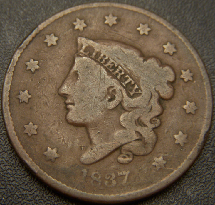 1837 Large Cent - Very Good