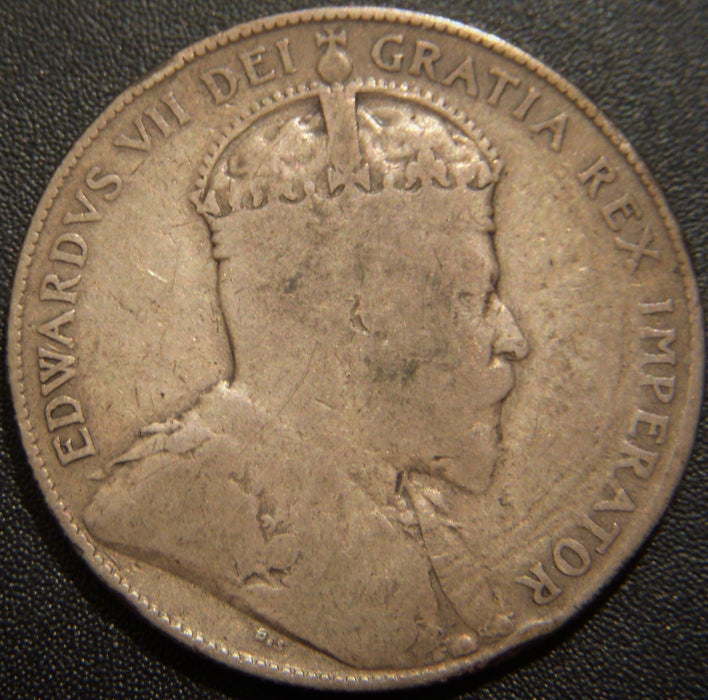 1906 Canadian Half Dollar - Very Good