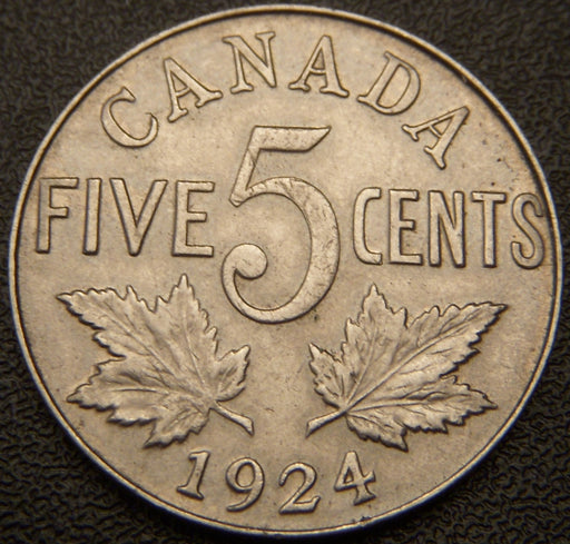 1924 Canadian Five Cent - AU