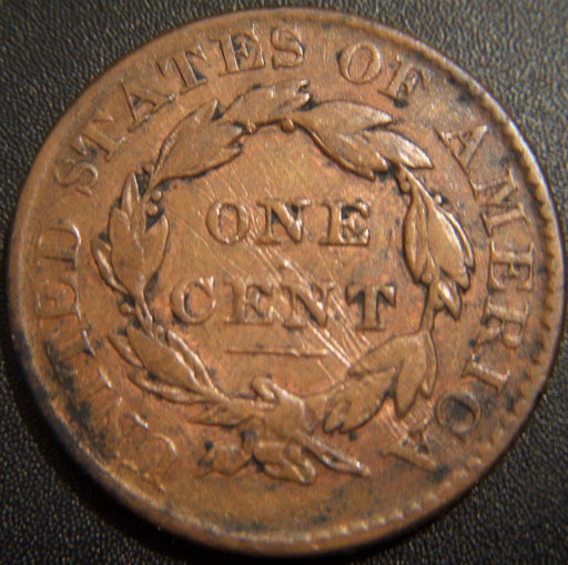 1826 Large Cent - VG+ Scratched