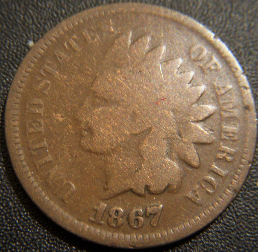 1867/67 Indian Head Cent - RPD-001
