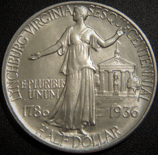 1936 Lynchburg Commemorative Half Dollar - Nice AU