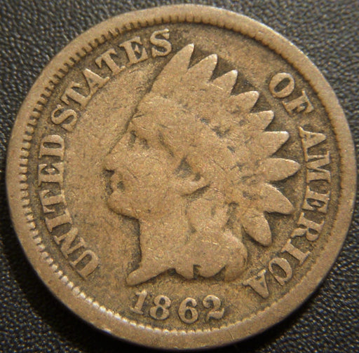 1862 Indian Head Cent - Good