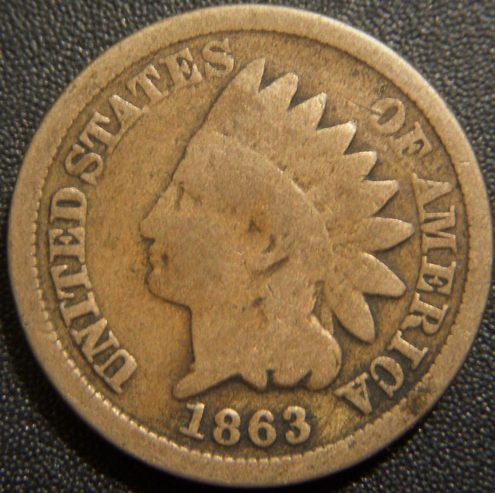 1863 Indian Head Cent - Good