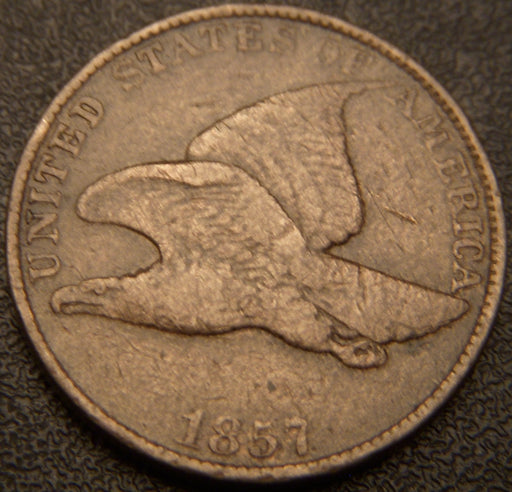 1857 Flying Eagle Cent - Fine