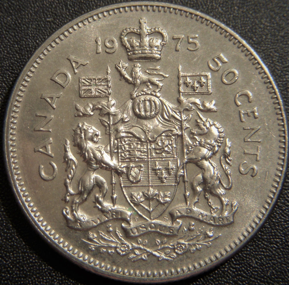 1975 Canadian Half Dollar - Fine to AU