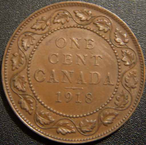 1918 Canadian Large Cent - Extra Fine