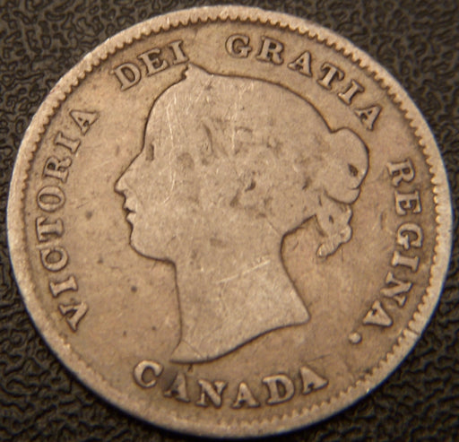 1893 Canadian Silver Five Cent - Good