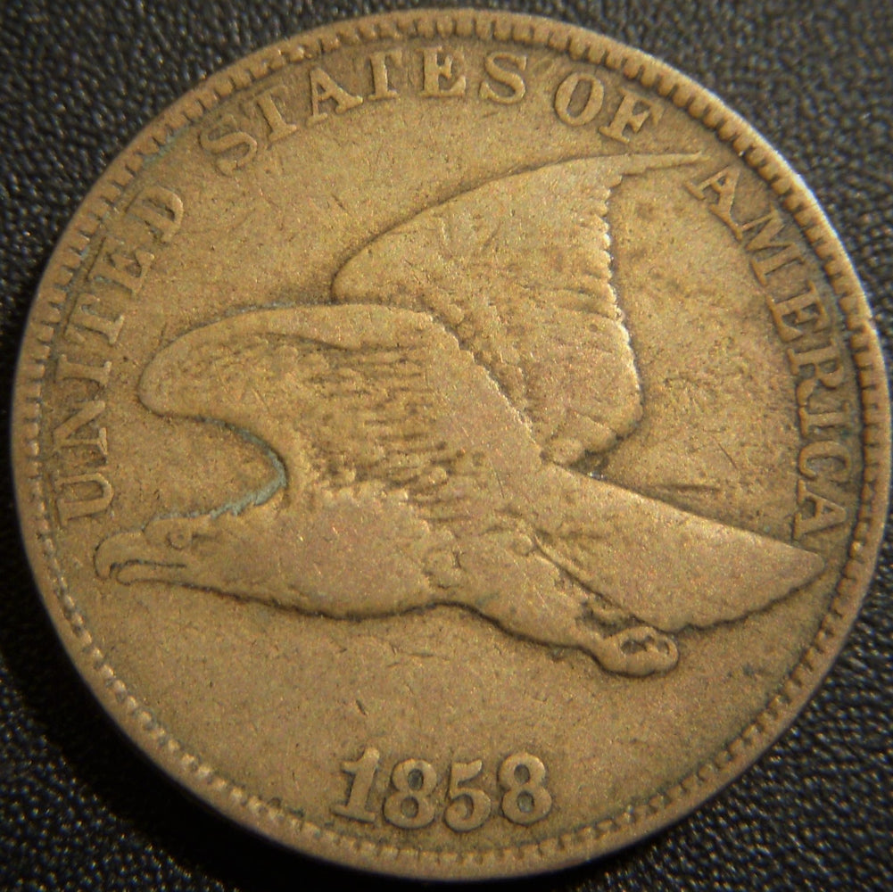 1858 Flying Eagle Cent - Large Letter Very Good