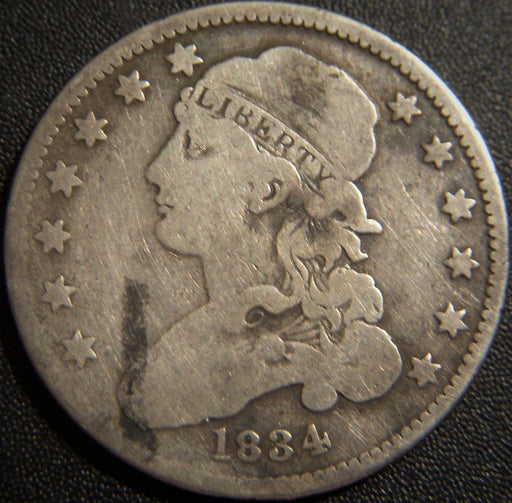 1834 Bust Quarter - Very Good