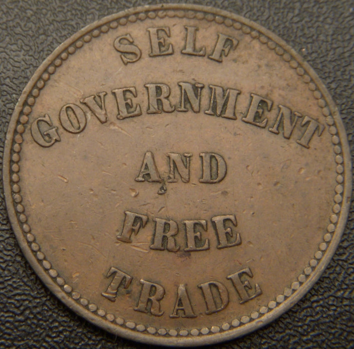 1857 Self Gov' & Trade Token