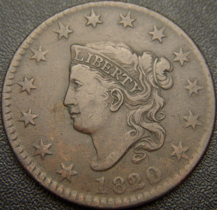 1820 / 19 Large Cent - EF Scr