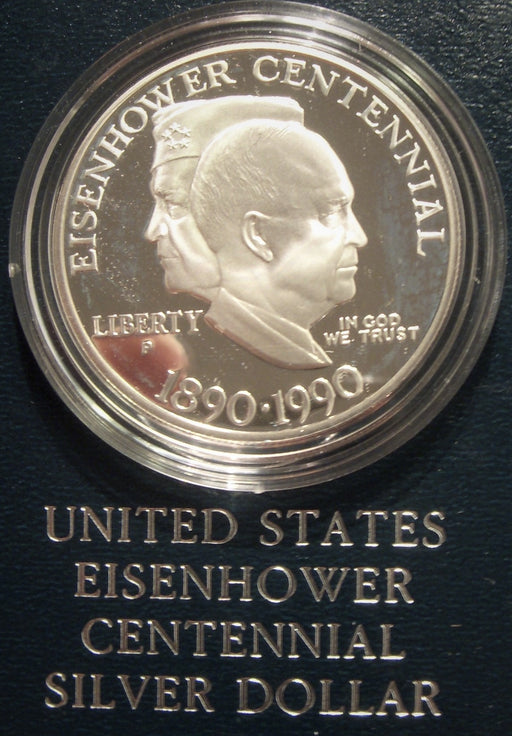 1990-P Eisenhower Centennial Silver Dollar - Proof