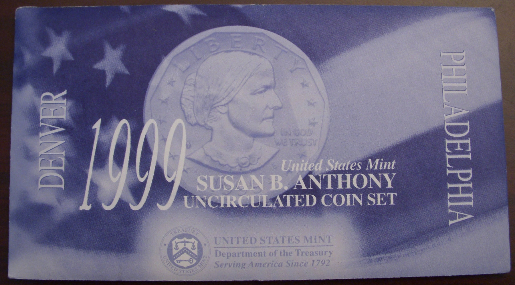1999 Susan B. Anthony Dollar - 2pc Uncirculated Set