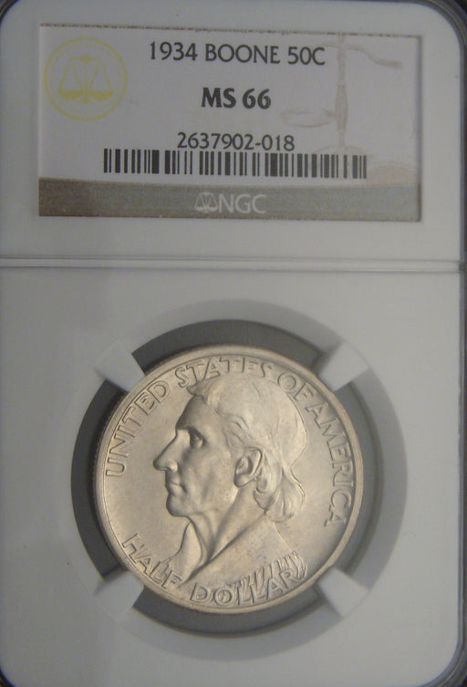 1934 Boone Commemorative Half Dollar - NGC MS66