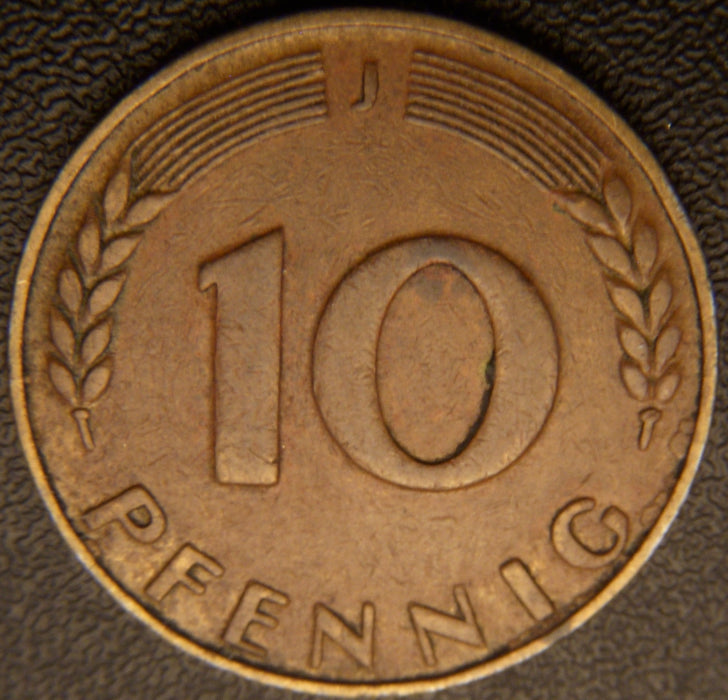 1949J 10 Pfennig LJ - Germany