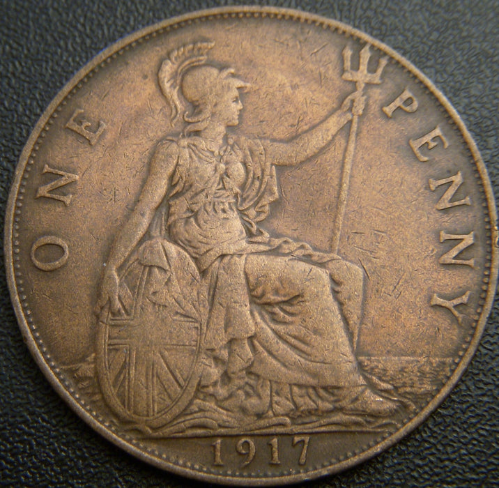 1917 1 Penny - Great Britain