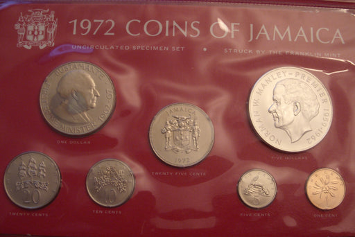 1972 7pc Unc. Set - Jamaica