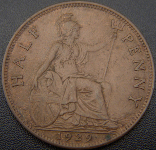 1929 1/2 Penny - Great Britain