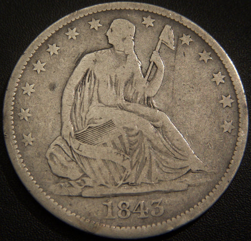 1843-O Seated Half Dollar - Very Good