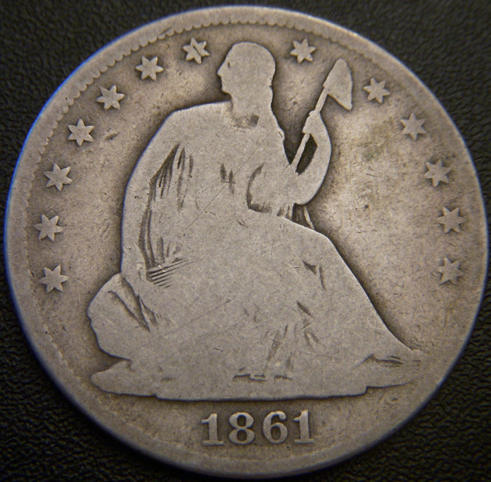 1861-O Seated Half Dollar - G