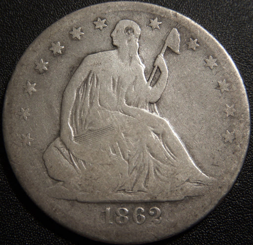 1862-S Seated Half Dollar - Good