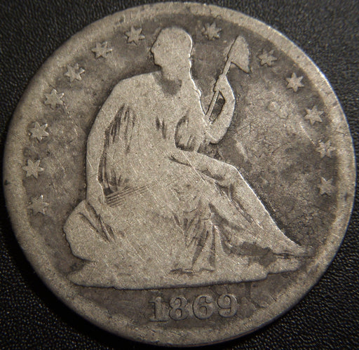 1869 Seated Half Dollar - Good
