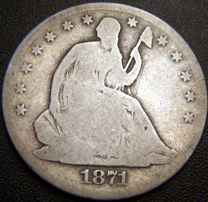 1871-S Seated Half Dollar - G